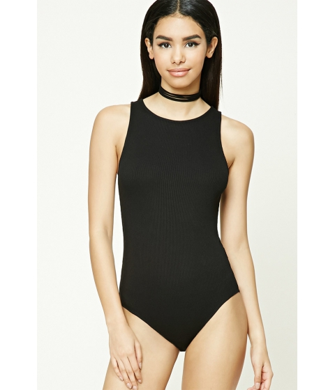 Imbracaminte Femei Forever21 Ribbed Knit Bodysuit Black