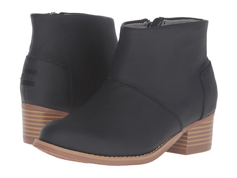 Incaltaminte Fete TOMS Leila Bootie (Little KidBig Kid) Black Leather