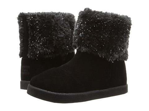 Incaltaminte Fete TOMS Nepal Boot (InfantToddlerLittle Kid) Black SuedeMetallic Faux Fur