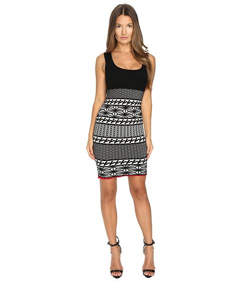 Imbracaminte Femei DSQUARED2 Jacquard Sleeveless Dress Jacquard BlackOff-WhiteRed