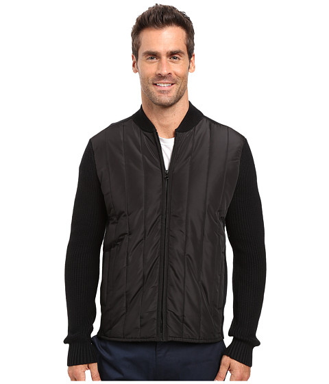 Imbracaminte Barbati Kenneth Cole Nylon Quilted Moto Jacket Black