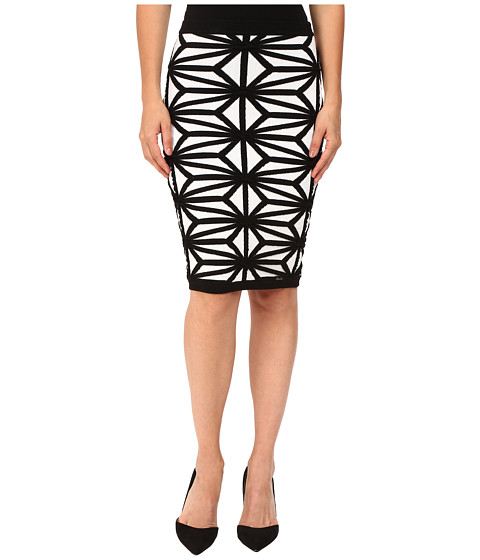 Imbracaminte Femei DSQUARED2 Geo Knit Skirt Off-WhiteBlack
