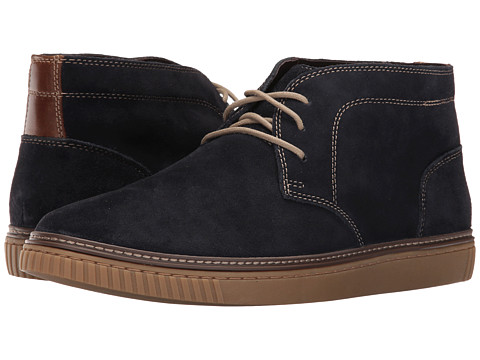 Incaltaminte Barbati Johnston Murphy Wallace Chukka Navy Water Resistant Suede