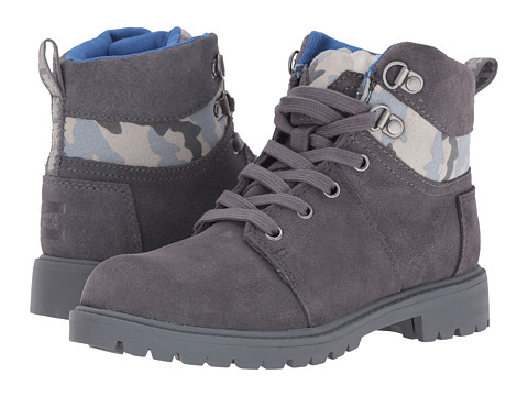 Incaltaminte Baieti TOMS Summit Boot (Little KidBig Kid) Castlerock Grey SuedeCamo