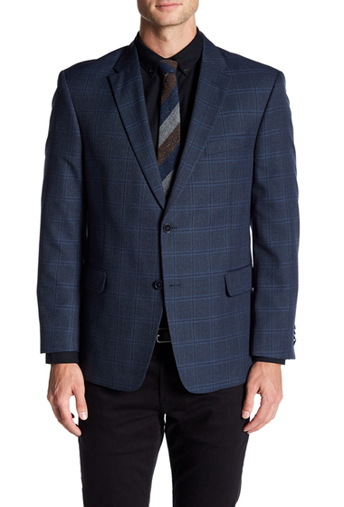Imbracaminte Barbati Tommy Hilfiger Ethan Blue Plaid Two Button Notch Lapel Jacket BLUE