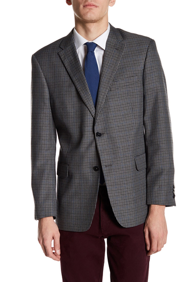 Imbracaminte Barbati Tommy Hilfiger Ethan Two Button Notch Lapel Plaid Sport Coat GREY