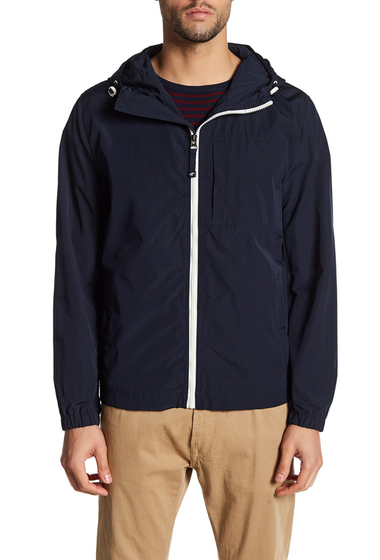 Imbracaminte Barbati Kenneth Cole New York Hooded Chest Pocket Jacket NAVY