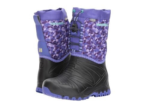 Incaltaminte Fete Merrell Snow Quest Lite Waterproof (Big Kid) BlackPurple