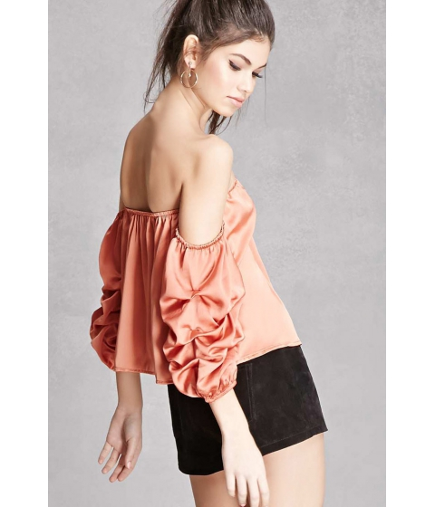 Imbracaminte Femei Forever21 Satin Off-the-Shoulder Top Amber