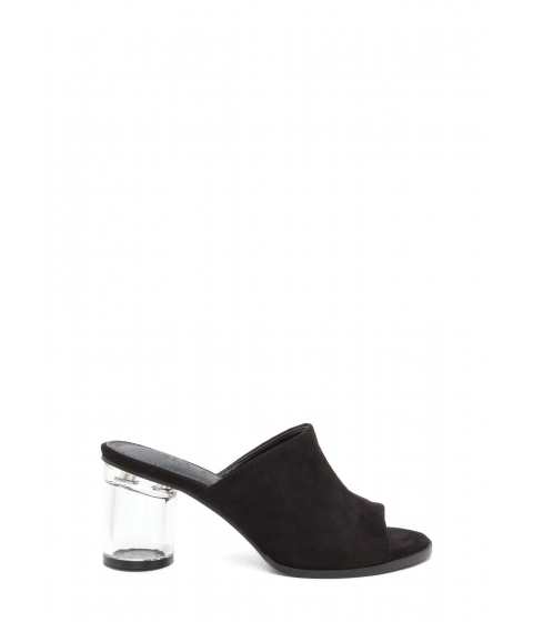 Incaltaminte Femei CheapChic Floating On Cloud 9 Chunky Mule Heels Black