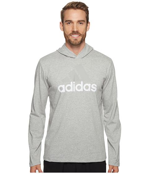 Imbracaminte Barbati adidas Badge of Sport Long Sleeve Hoodie Medium Grey Heather