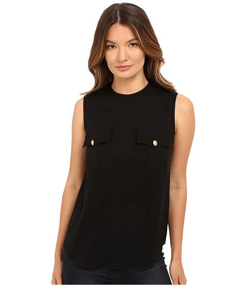 Imbracaminte Femei DSQUARED2 Silk Georgette Sleeveless Top Black