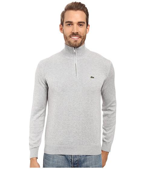 Imbracaminte Barbati Lacoste Segment 1 14 Zip Jersey Sweater Silver Grey Chine