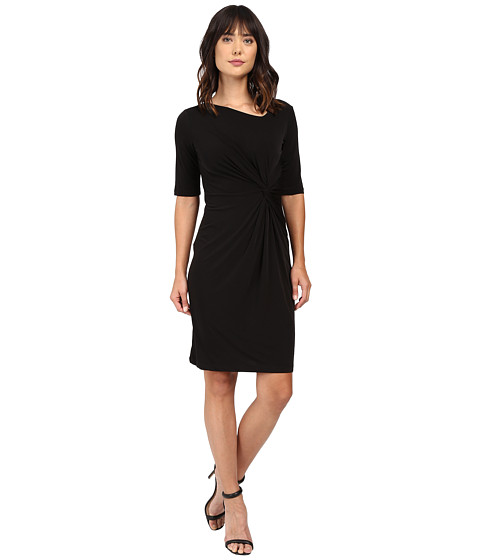 Imbracaminte Femei Christin Michaels Eugina Twisted Front Short Sleeve Dress Black