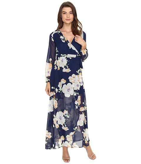 Imbracaminte Femei Brigitte Bailey Tilda Floral Print Maxi Wrap Dress NavyMulti