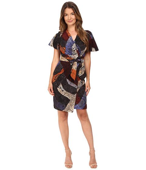 Imbracaminte Femei Just Cavalli Cross Naif Print Short Sleeve Faux Wrap Dress Lavender