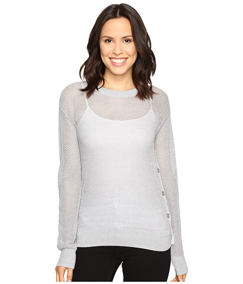Incaltaminte Femei Michael Kors Metallic Mesh Sweater Pearl Heather