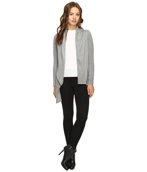Imbracaminte Femei Christin Michaels Ramona Ribbed Cardigan Grey