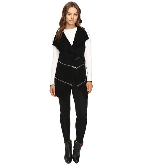 Imbracaminte Femei Christin Michaels Lilian Sweater Vest with Double Zippers Black