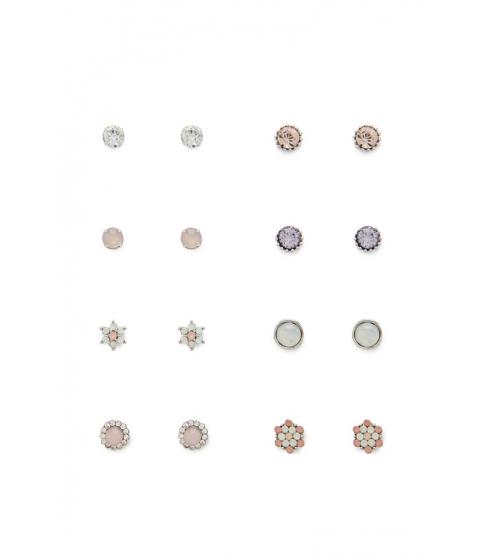 Bijuterii Femei Forever21 Rhinestone Stud Earring Set Silverpink