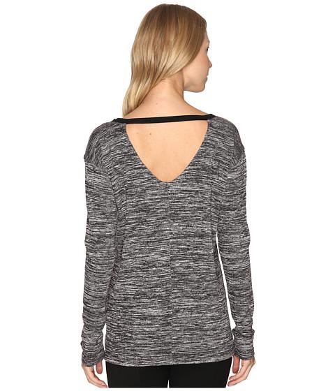 Imbracaminte Femei Calvin Klein Marl Long Sleeve V-Back Tee BlackWhite Combo