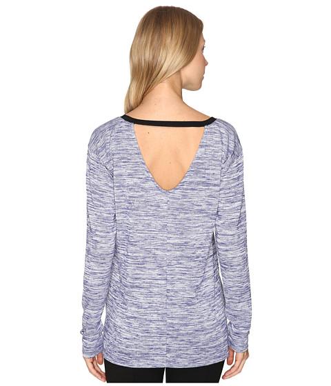 Imbracaminte Femei Calvin Klein Marl Long Sleeve V-Back Tee Blueberry Dust