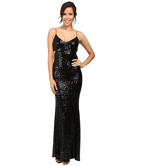Imbracaminte Femei Badgley Mischka Cut Out Sequin Gown Black