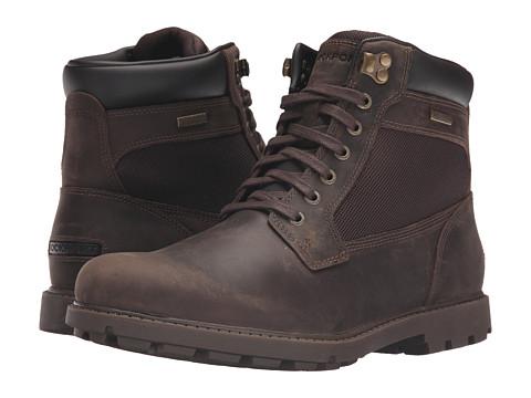 Incaltaminte Barbati Rockport Rugged Bucks Waterproof High Boot Dark Brown