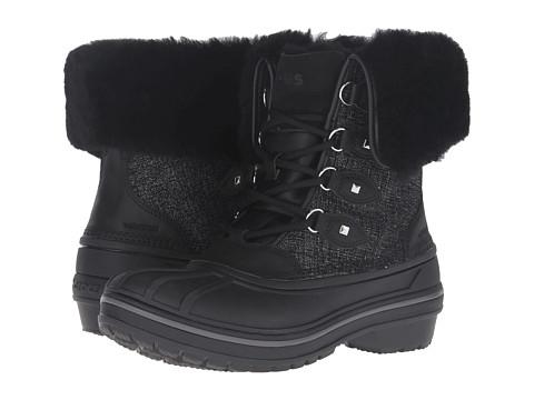 Incaltaminte Femei Crocs AllCast II Luxe Boot Black Shimmer