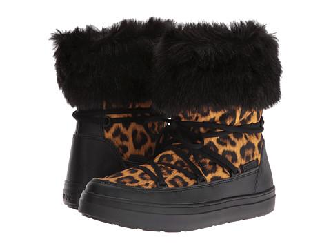 Incaltaminte Femei Crocs LodgePoint Lace Boot LeopardBlack