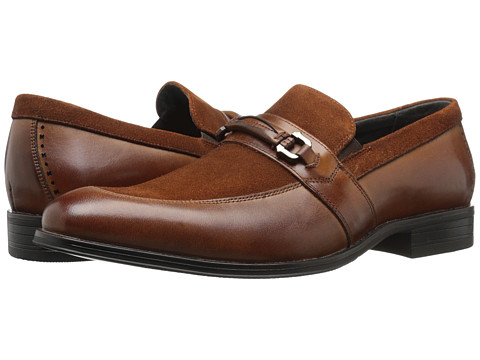 Incaltaminte Barbati Stacy Adams Selby Moc Toe Bit Slip-On Cognac