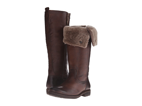 Incaltaminte Femei Frye Mara Button Tall Dark Brown Soft Classic Leather