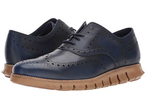 Incaltaminte Barbati Cole Haan ZeroGrand Wing Ox Leather PeacoatRubber