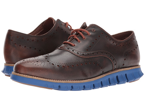 Incaltaminte Barbati Cole Haan ZeroGrand Wing Ox Leather WoodburyLimoges Blue