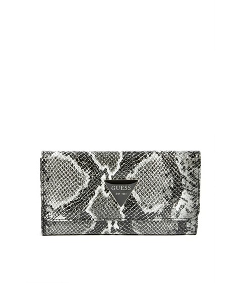 Accesorii Femei GUESS Abree Python-Embossed Wallet black