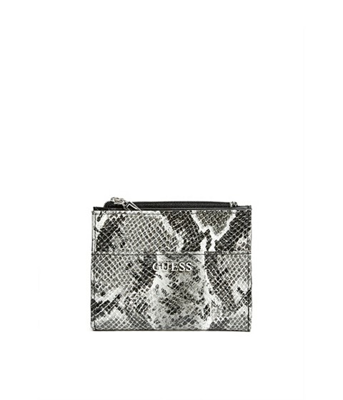 Accesorii Femei GUESS Abree Small Zip-Around Wallet black