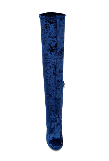 Incaltaminte Femei CARLOS by Carlos Santana Rumer Over-The-Knee Boot ROYAL BLUE VELVET