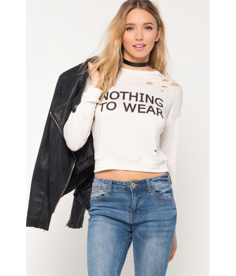 Imbracaminte Femei CheapChic Nothing To Wear Sweatshirt Oatmeal