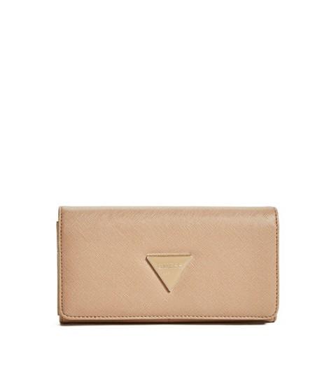 Accesorii Femei GUESS Abree Flap Wallet tan