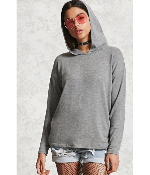 Imbracaminte Femei Forever21 Heathered Knit Hooded Top Heather grey