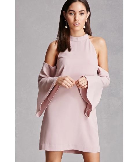 Imbracaminte Femei Forever21 Open-Shoulder Mock Neck Dress Lavender