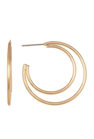 Accesorii Femei Melrose and Market Double Hoop Earrings GOLD