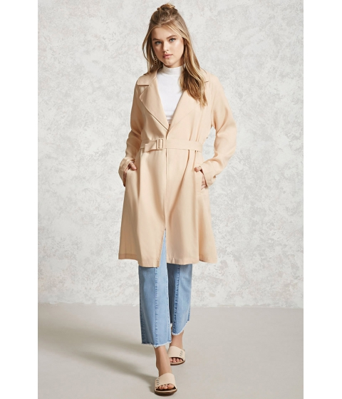 Imbracaminte Femei Forever21 Textured Belted Trench Coat Taupe