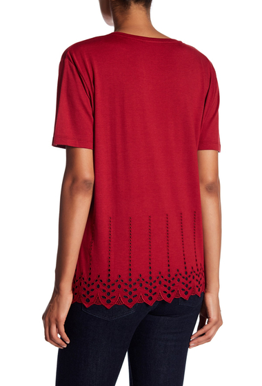 Imbracaminte Femei The Kooples Eyelet Tee RED