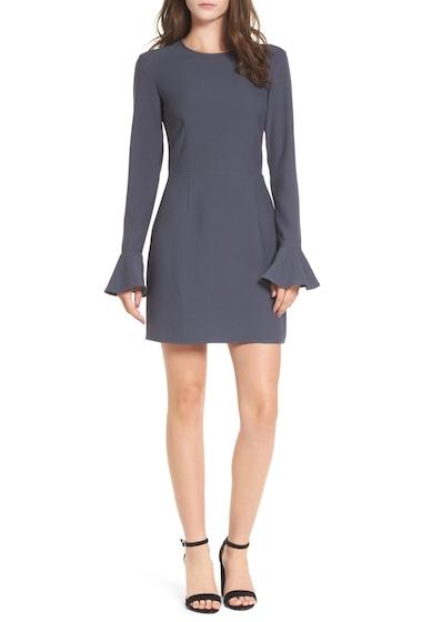 Imbracaminte Femei Leith Bell Sleeve Sheath Dress NAVY INDIA INK