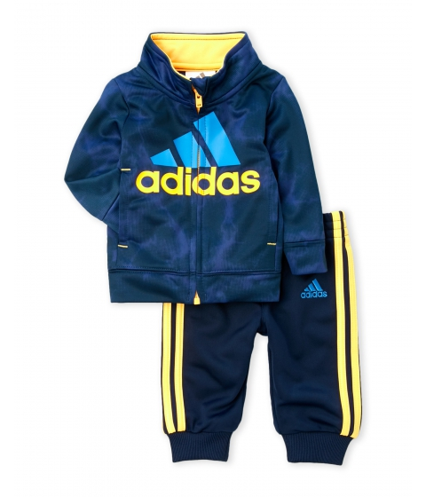 Imbracaminte Baieti adidas (NewbornInfant Boys) Two-Piece Smoke Screen Jacket Jogger Pants Set Dark Indigo