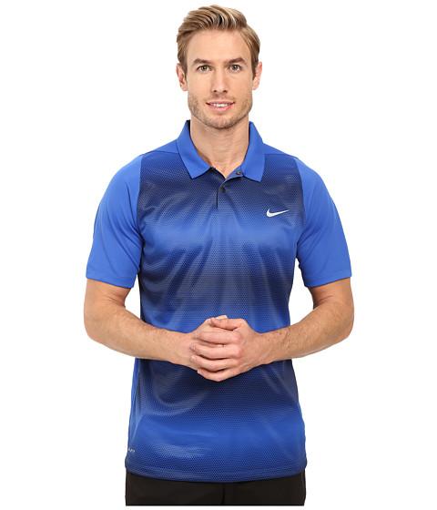 Imbracaminte Barbati Nike Tiger Woods Vl Max Sphere Stripe Polo Game RoyalMidnight NavyReflective Silver