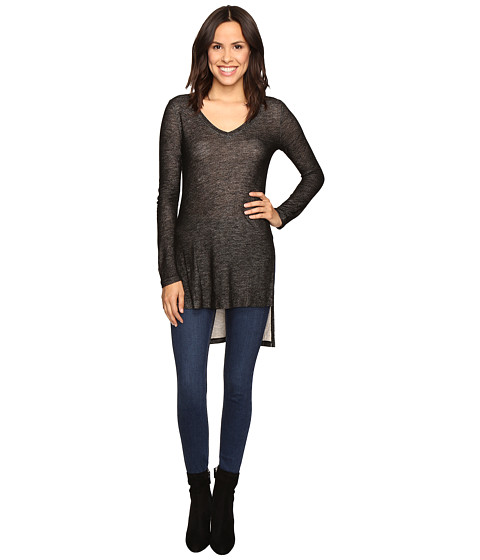 Imbracaminte Femei Splendid Long Sleeve V-Neck Tunic Black