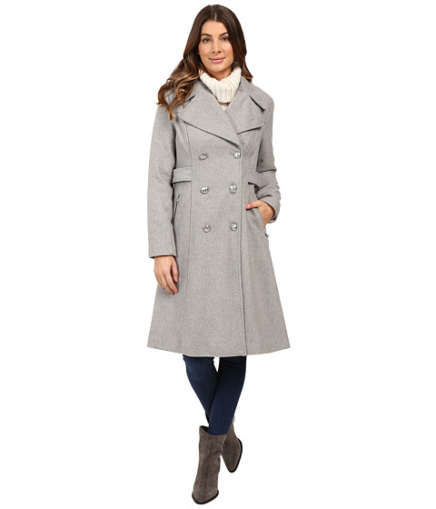 Imbracaminte Femei Jessica Simpson Double Breaster Military Duster Heather Grey
