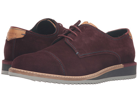 Incaltaminte Barbati Ted Baker Gliyne Dark Red Waxed Suede